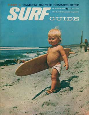 with Surfer Magazine. Below: Cover of the